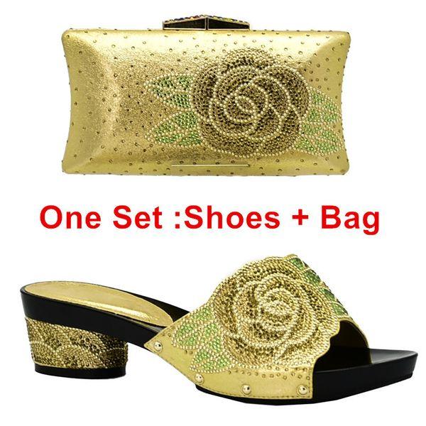 Zapatos de oro ang bolsa ang