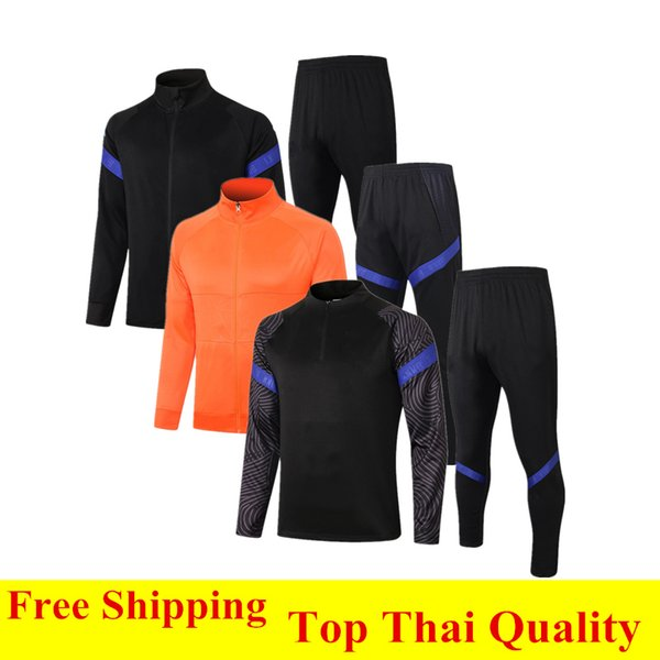 best selling Thai quality 2020 Netherlands zipper football jacket Survetement PROMES DE JONG Down jacket MEMPHIS soccer tracksuit DE LIGT training suit