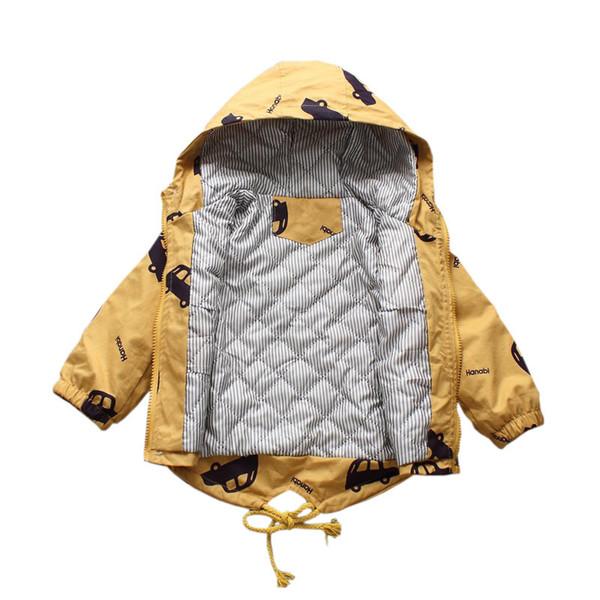best selling 2020 Winter Warm Outerwear jacket For Kids New Boys Girls Plus Velvet Hooded Warm Outerwear Windbreaker Jacket Baby Kids Coats Q1123