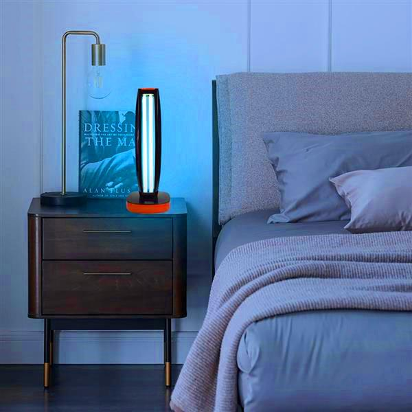 top popular Hot selling Wireless Remote Control Ultraviolet Sterilization Lamp Blue Light Power Cord 1.5 Meters Long Black Multifunctional lights 2021