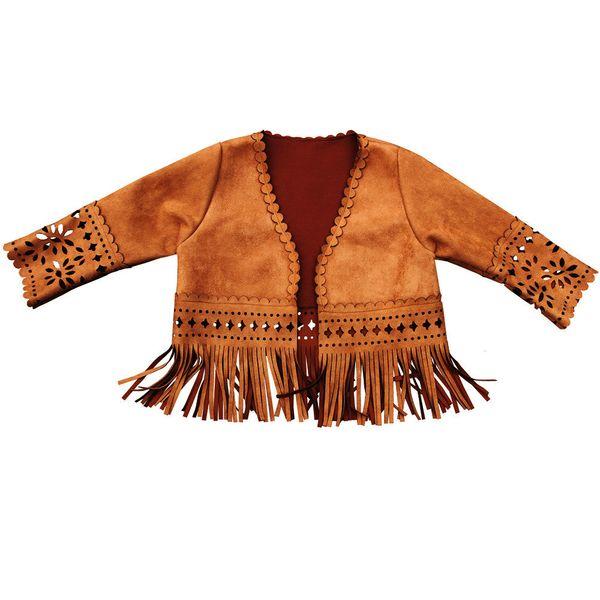 top popular Girls tassel 2019 New Children Jacket Print Kids Jackets Winter Baby Clothing Laser cutting Outerwear nice coat Q1123 2020