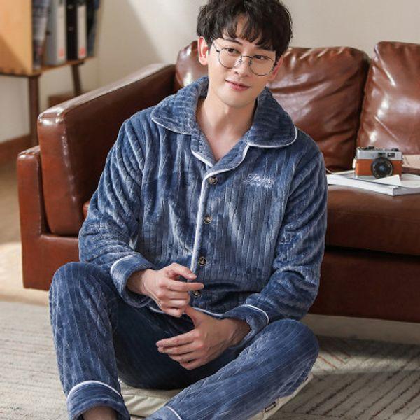 Pijama de los hombres sólidos