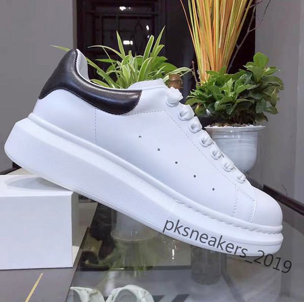 best selling 2021 Top Quality Mens Womens Leather Casual Shoes Lace Up Comfort Pretty Shoes Men's Trainers Daily Lifestyle Skateboarding Shoes