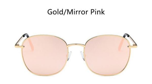 espejo dorado rosa