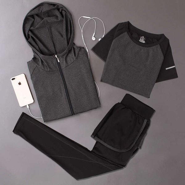 深灰 外 套外套 + 深灰 弧线 短袖 + 深灰弧线 长裤