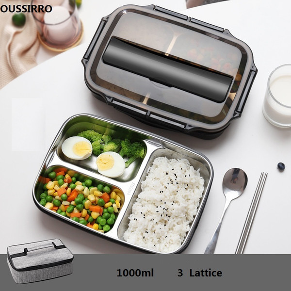 top popular 304 Stainless Steel Thermos Thermal Lunch Box Whit Bag Set Kid Adult Bento Boxs Leakproof Japanese Style Food Container Portable F1230 2021