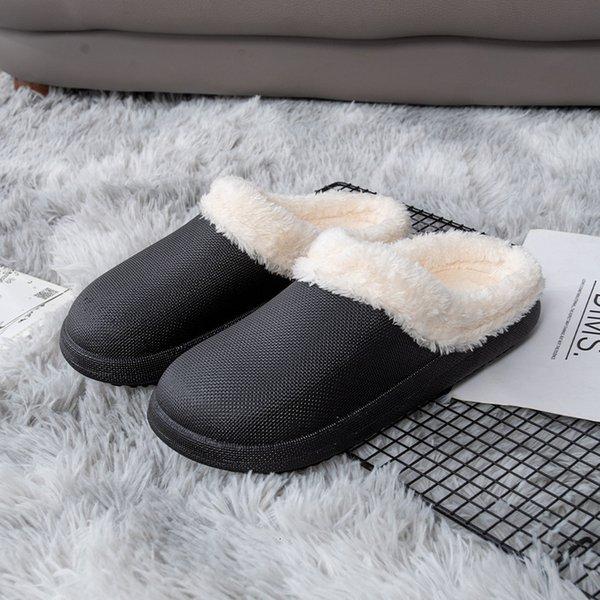 Chaussures de coton étanches noires