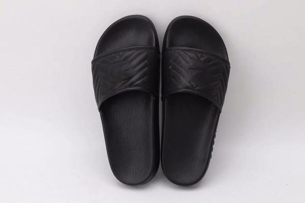 best selling Fashion Luxury Designer Rubber Slides Slippers Sandal Women and Men Flip Flops striped Beach Free Shipping