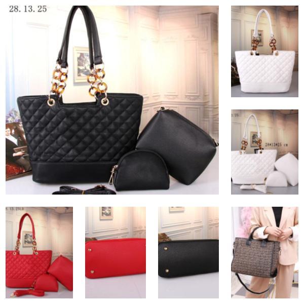 best selling wholesale best quality women lady handbag totes Tactical Waist packs leather fashion shopping bag casual Designer Handbag bag 3pcs set
