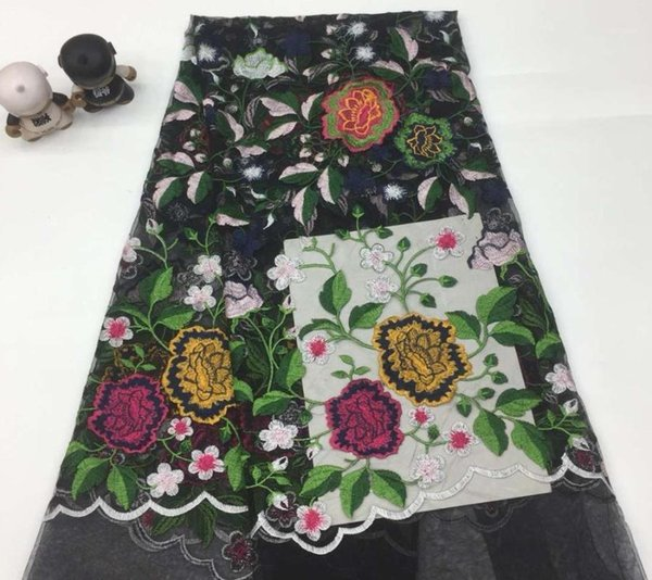 top popular Most popular embroidered african tulle lace fabric Beautiful Nigerian french tulle lace fabric with sequins High quality1 2021