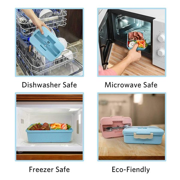 top popular Leak proof containers, including compartment, school compartment, microwave oven, food container, tableware, children's 2021