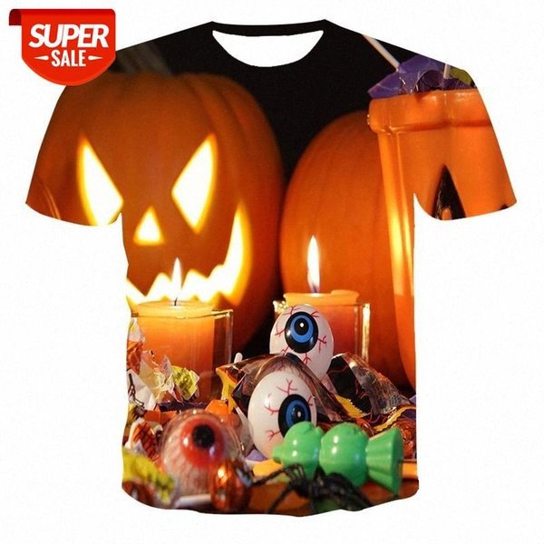 top popular New T-shirt male high-quality male T-shirt Halloween funny short-sleeved 3D printing #hj3u 2021