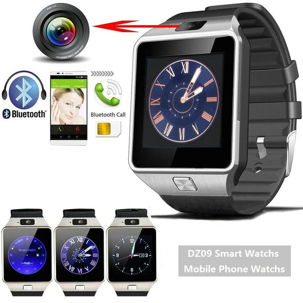 best selling DZ09 watchs GT08 A1Smartwatch Bluetooth Android SIM Intelligent Mobile Phone Watch with Camera Can Record the Sleep State Retail Packaging