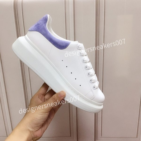2021new Women Shoes Men's Leather Lace Up Platform Oversized Sole Sneakers White Black Casual hc191001