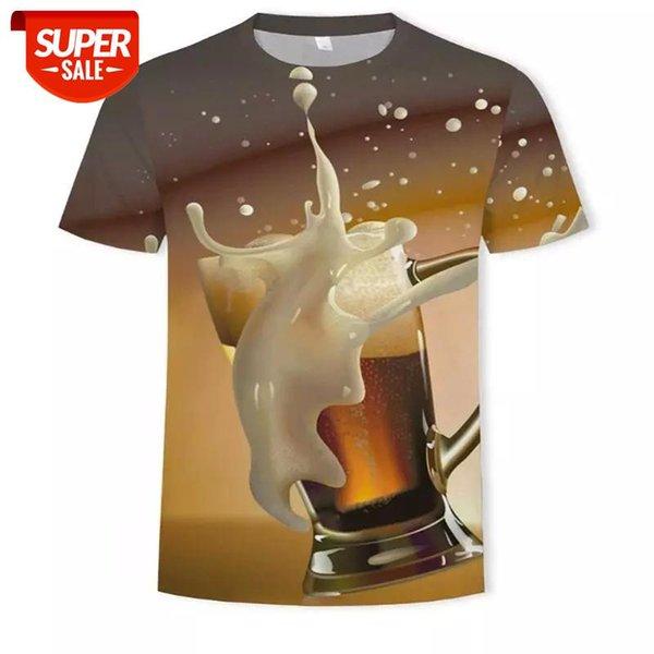 best selling New 3D T-shirt men's beer hamburger poker hip-hop O-neck short sleeve men women T-shirt printed top #vf7k