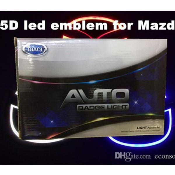 best selling 5D car led emblem car led badge car led symbols logo rear light bulb white red blue color forM*zda