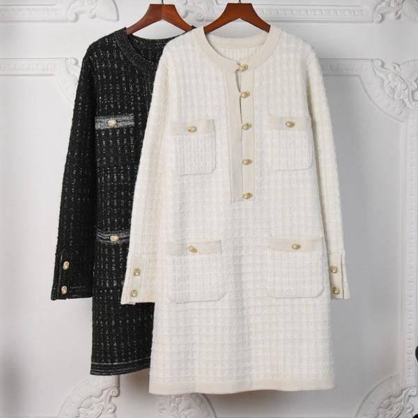 best selling Women Sweater Dress Winter Knitted Dress Cowl Neck Knitwear Wool Blended Casual Outfit Blouse Dress Winter Outfit Office Winter Cardigan-4