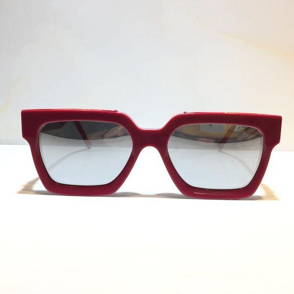 rose red frame silver mirror lens