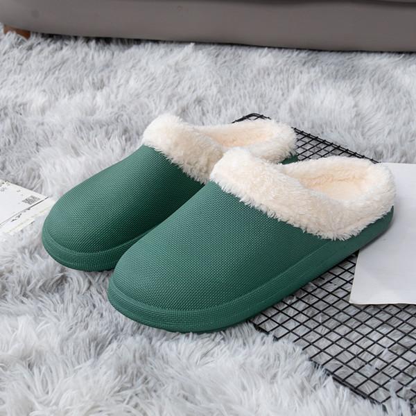 Chaussures de coton étanches vert