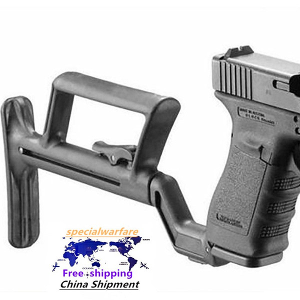 Water bomb tactical back support shoulder support telescopic tail tow G17 G18 G19 G22 G34 bracket