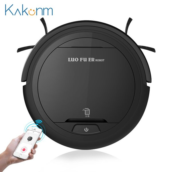 top popular K5W Smart Sweeping Robot Vacuum Cleaner Ultra-thin Automatic Mopping Machine Super Suction Low Noise APP Robot Sweep Suction Y200320 2021