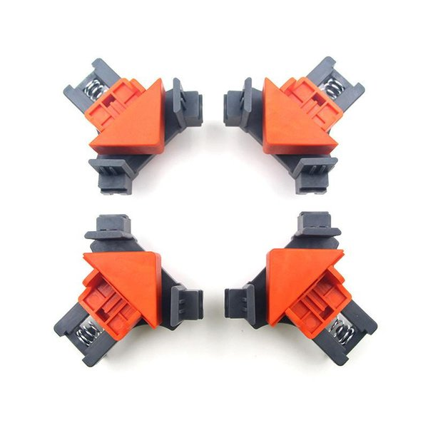 top popular 90 Degree Right Angle Clamp Fixing Clips Picture Frame Corner Clamp Woodworking Hand Tool furniture repaire photo reinforcement 2021