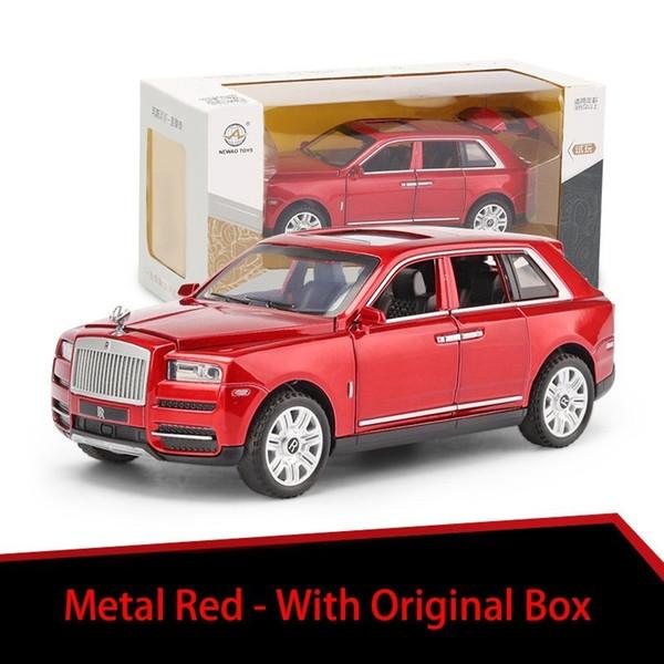 Métal rouge avec boîte