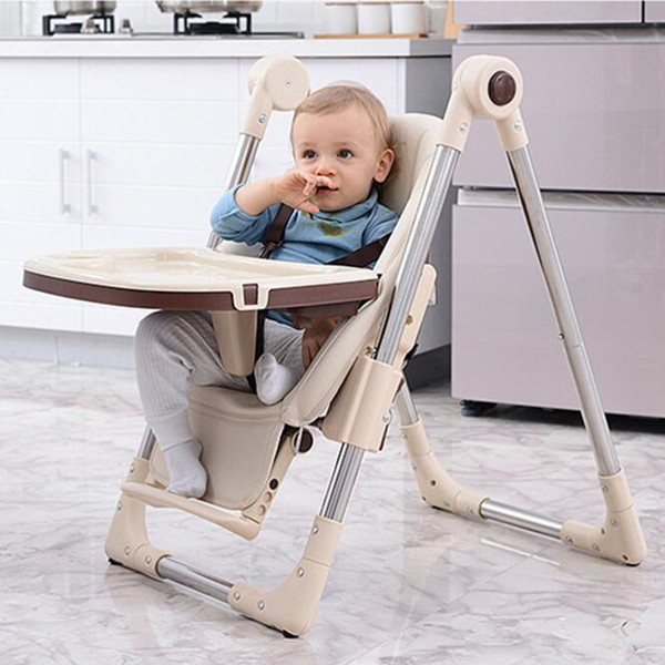top popular Free Shipping Multifunction Portable Table for Child Car Seats Dinner Table Adjustable Folding High Chair for Children Feeding LJ201110 2021