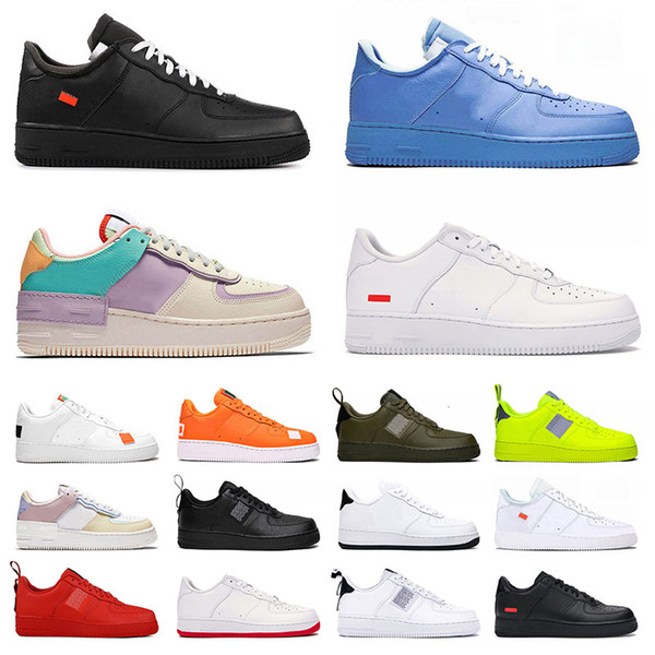 best selling New AirDunk 1 Shadow One Casual Shoes Mens Womens White Off Mca AirforceUtility Volt Do It Just Moma ForcesTrainers Sneakers