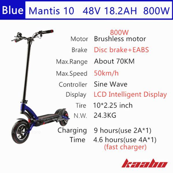M10 48V 800W Blue