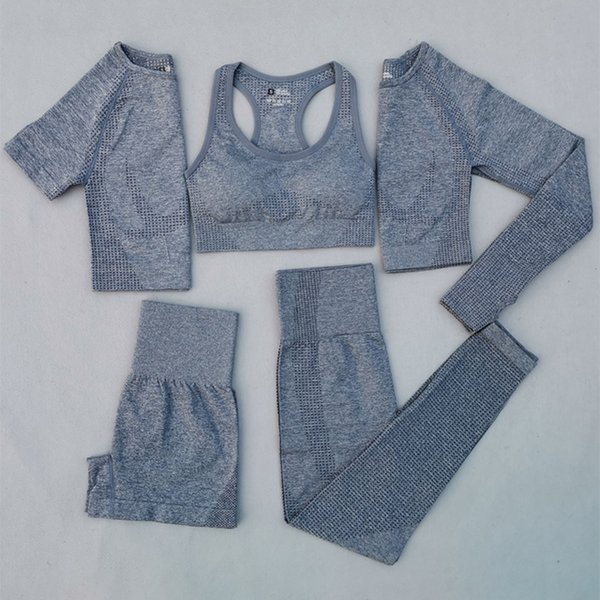 Gray Blue 5 Pcs Set