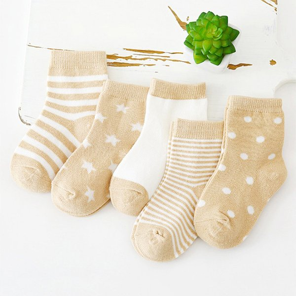 top popular 5 Pair Lot Kids Soft Cotton Socks Boy Girl Baby Cute Cartoon Warm Stripe Dot Fashion Sport Spring Summer Autumn Winter Children free ship 2021