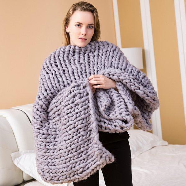 Coperta di nastro a maglia - grigio medio