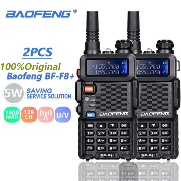 top popular 2PCS Baofeng BF-F8+ Walkie Talkie Dual Band Vhf&Uhf SMA-F Two Way Radio BF F8+ F8 Comunicador Ham CB Radio Range Hf Transceiver 2021