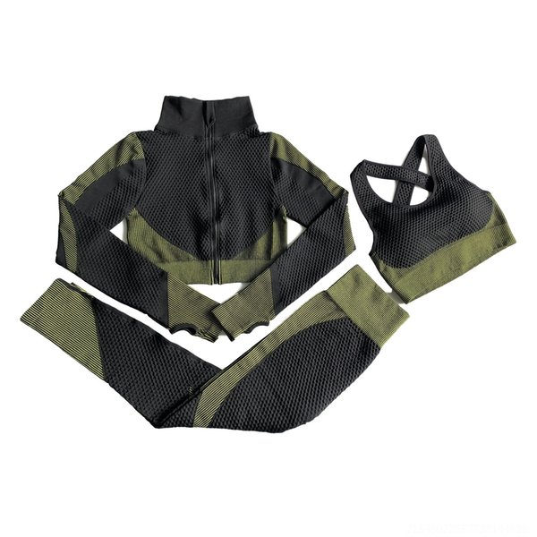 Three Piece Black And Green Suit
