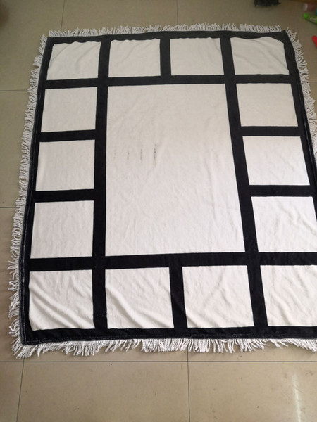 best selling Plaid sublimation blanks Blanket with Tassels 9 15 20 Grids Mat Heat Transfer Printing Sofa Blankets Throw Blankets sublimation bla