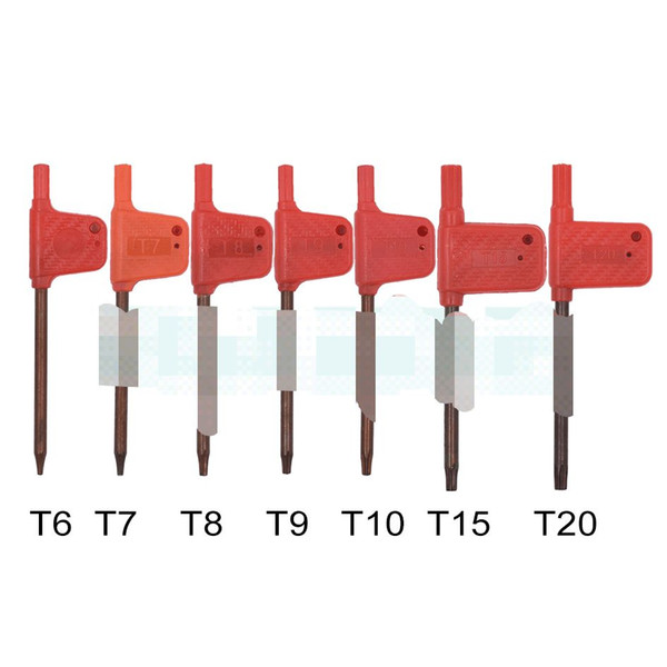 best selling 2020 T6 T7 T8 T9 T10 T15 T20 Torx Screwdriver Spanner Key Small Red Flag Screw Drivers Tools 200pcs lot