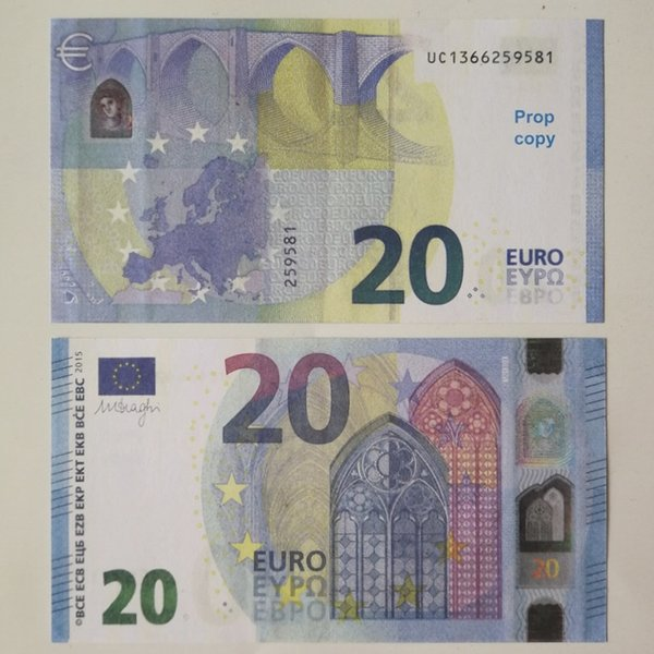 top popular 171 Prop currency bar 20 euro prop children toy adult game prop special movie game euro dollar pound stage money 2021