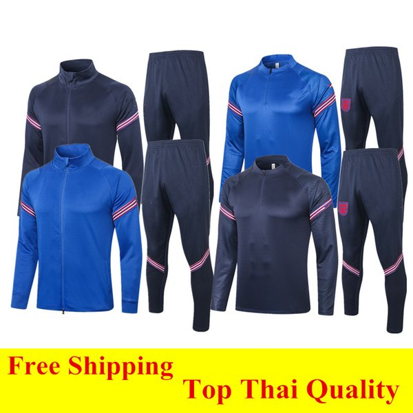 best selling Thai quality 2020 KANE soccer tracksuit STONES 20 21 STERLING Survetement RASHFORD Football jacket SANCHO long sleeve training suit XXL