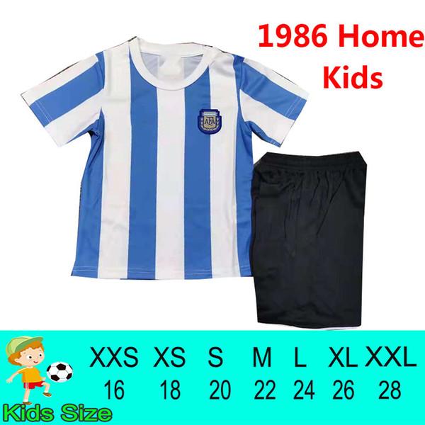 Argtina Retro 1986 Home Kids