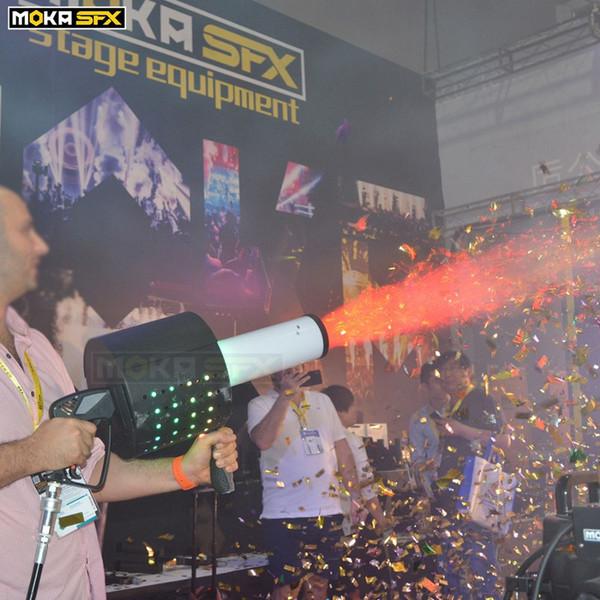 best selling New LED CO2 Confetti Blaster CO2 jet Machine Confetti Gun Manual Control Confett Machine Wedding Party Concert