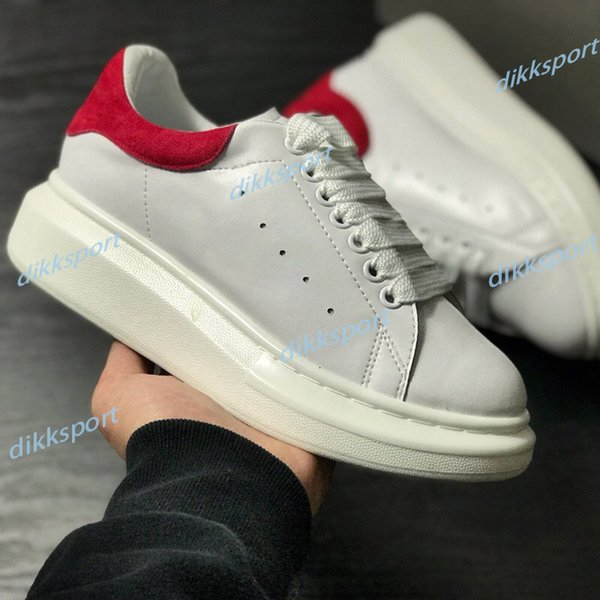 best selling Fashion Casual Shoes Genuine Leather Sneakers Mens Women Trendy Trainer White Black Pink Leather Platform Shoes Flat Chaussures
