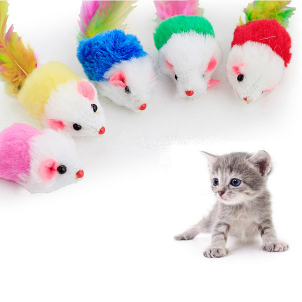 best selling Colorful Cat Toy Lovely Mouse For Cats Dogs Funny Fun Playing Contain Catnip Toys Pet Supplies
