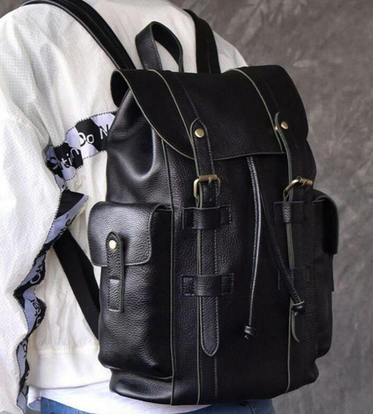 best selling Hot Men and women Backpack backpack shoulder bag fashion letter pattern string black high quality travel bag may mountaineering bag