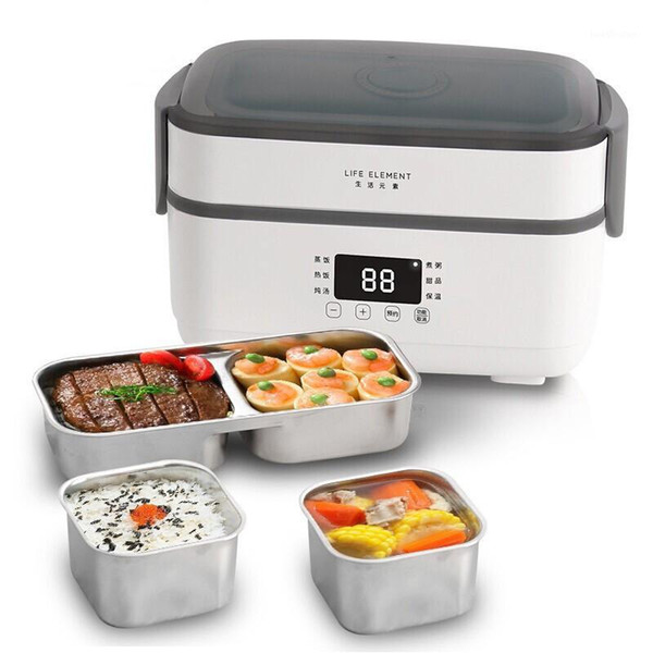best selling Double-layer Electric Lunch Box Small Rice Cooker Automatic Heating Timing Insulation Mini Office Worker Double-layer Cooking1