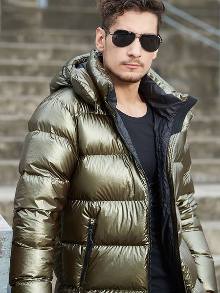 top popular Goose wind bright surface down jacket men's short thickened cold outdoor Hot Sale Free shipping New 2021 2021