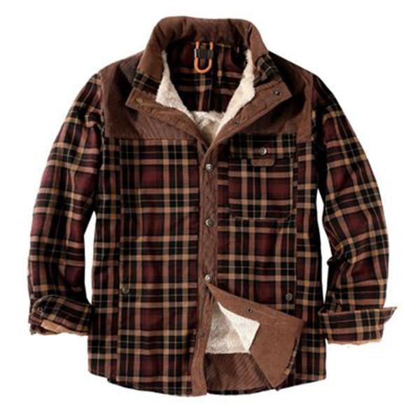 top popular Classical Cool guys shirt Popular high quality fashion warm outdoor shirts mens down winter jacket coat 2021
