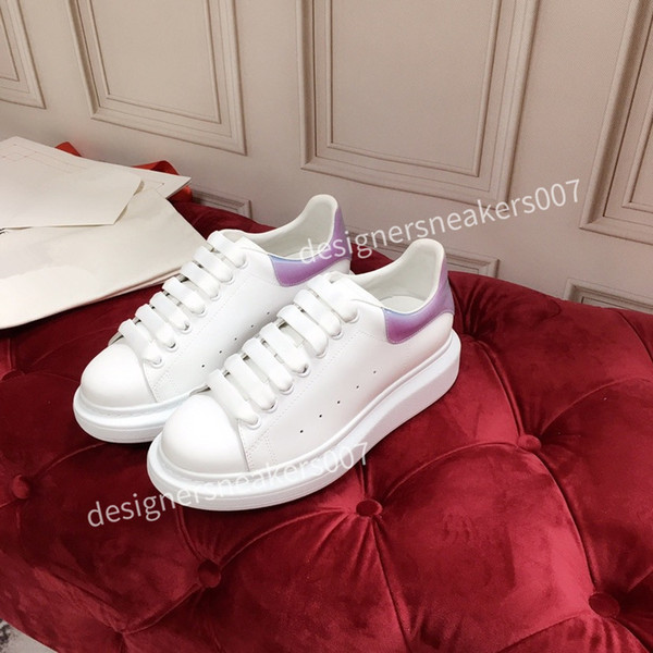 2021the NEW WomenS Shoes Men's Leather Lace Up Platform Oversized Sole Sneakers White Black Casual hc191001