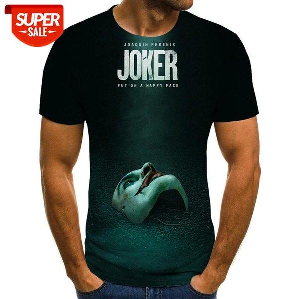 top popular 2020, Sale Product, 3D Clown, Joker Face Printed Mens T Shirt, Men T Shirt, 3d Clown, Funny Short Sleeve T-shirts, Tops and Tees #ns4f 2021