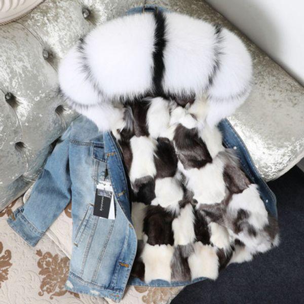 Fox Fur Black White